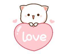 Gifs Kawaii, Kawaii 365, Kawaii Cute, Cute Anime Cat, Cute Cat Gif, Cute Bear Drawings, Cute Kawaii Drawings, Cute Love Pictures, Cute Love Gif