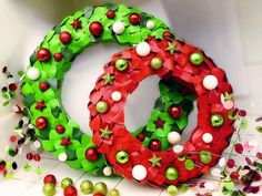 Duct tape wreaths