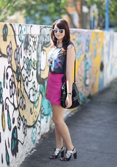 Look do dia: Saia pink