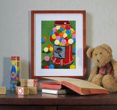 GUM BALLS  Art Print available in 2 sizes by TornpaperMemories, $15.00