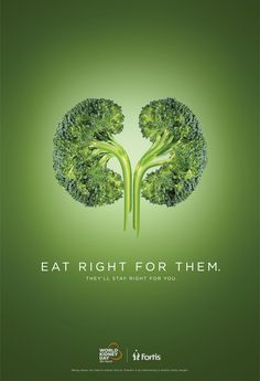 Fortis Print Ad - World Kidney Day - Broccoli