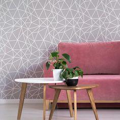Geometric Paint Wall Stencil - Modern Geometric Pattern for Walls Geometric Stencil, Geometric Painting, Geometric Wall, Stencil Patterns, Stencil Designs, Wall Patterns, Large Wall Stencil, Large Stencils, Diy Wall Decor