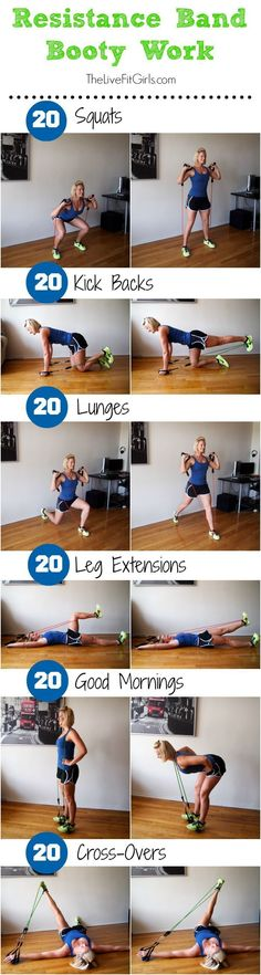 Resistance Band Booty Workout #exerciseequipment #fitnessequipment, #resistancebands