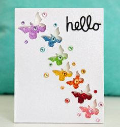 A really pretty butterfly card from Queen & Co.. #card_making #cards #scrapbooking