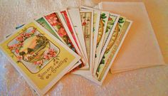 12 Vintage Gorgeous Reader's Digest Blank Victorian Cards