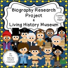 Biography Research Unit BundleThis integrated Biography Research Unit Bundle contains EVERYTHING you need to teach students how to complete an individualized, self-directed Biography Research Project. This Biography Research Project is Common Core Aligned.