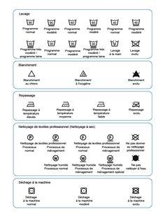 1000 images about d co buanderie on pinterest laundry - Instructions de lavage symboles ...