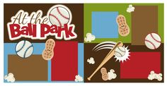 PPbN Designs - At the Ball Park Scrapbook Page Kit Cut, $1.99 (http://www.ppbndesigns.com/at-the-ball-park-scrapbook-page-kit-cut/) Cut out the whole kit!  All files are SVG!