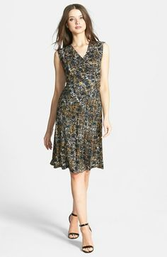 NIC ZOE 'Tribal Brush' Faux Wrap Dress available at #Nordstrom