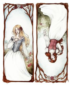 """Snow White & Rose Red""  I loved this fairy tale!"