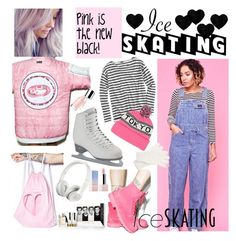 """""""So cute: Ice Skating Style"""" by tessawarongan on Polyvore featuring Local Heroes, W.I.A, House of Jam, Lugz, J.Crew, Beats by Dr. Dre, American Apparel, White House Black Market and Sephora Collection"""