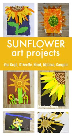 famous art Tell your kids learn to create Van Gogh sunflower art projects. Summer Art Projects, Art Projects For Adults, School Art Projects, Van Gogh For Kids, Art For Kids, Art Children, Kid Art, Art Activities For Kids, Preschool Art