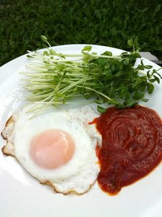 Sunny-side up egg with a twist!