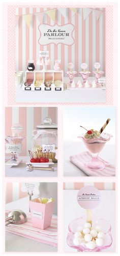 Free printables for Icecream parlour.