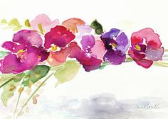 Painting - Floating Blooms by Lanie Loreth