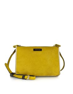 Carven Duo Jonquille Haircalf Crossbody Bag