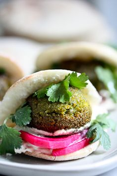 Feasting at Home : Falafels with Home Made Pita and Creamy Tahini Sauce
