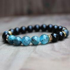 Wrist Mala, Kyanite Bracelet, Healing jewelry, Calming Bracelet,