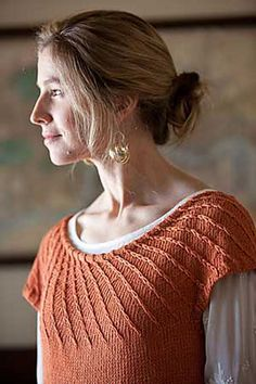 Heliotropic Pullover #knit pattern by Mercedes Tarasovich-Clark, published in Interweave Knits, Spring 2011. Uses Rowan Lenpur Linen.