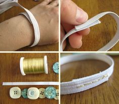 Button bracelet - makes me wish I hadn't given away all my great aunts button stash 10 years ago!!!
