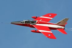 On this day in Aviation 31 August 1959 by Francois Vebr Fighter Jets, Military Jets, Military Aircraft, Folland Gnat, The Spitfires, Engin, Red Arrow, Royal Air Force, Hunting