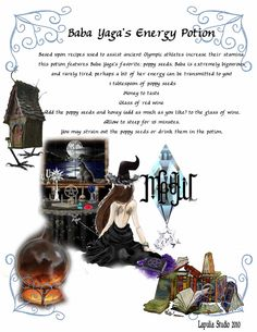 Potions: Baba Yaga's Energy Sleeping potion perhaps Ancient Olympics, Witch Potion, Myths & Monsters, Magic Crafts, Witchcraft For Beginners, Witchcraft Supplies, Eclectic Witch, Magick Spells, The Good Witch