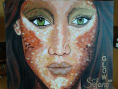 Glow by:STEFANO acrylic on canvas fashion art