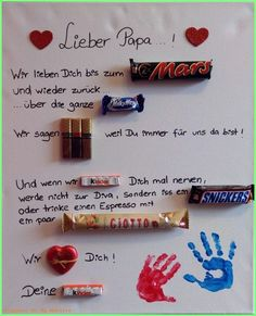 gifts for dad Vatertagsgeschenk Basteln Kin - Fathers Day Art, Funny Fathers Day Gifts, Gifts For Father, Great Gifts For Dad, Diy Gifts For Friends, Craft Day, Craft Gifts, Dad Day, Diy Presents
