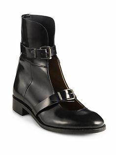 Acne - Petra Leather Mary Jane Ankle Boots - Saks.com