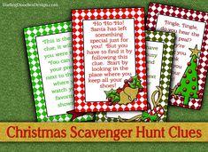 Christmas Gift Scavenger Hunt Cards