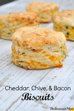 Cheddar Chive and Bacon Biscuits by The Seasoned Mom