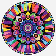 Taste the rainbow mandala Mandala Art, Design Mandala, Mandalas Drawing, Zentangles, Art Fractal, Inspiration Art, Mandala Coloring, Art Design, Adult Coloring Pages