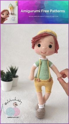 The Effective Pictures We Offer You About Amigurumi Doll Pattern Free A quality picture can tell you Crochet Doll Pattern, Crochet Patterns Amigurumi, Amigurumi Doll, Crochet Dolls, Easy Knitting Projects, Crochet Projects, Doll Patterns Free, Knitted Teddy Bear, Hand Knitted Sweaters