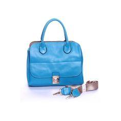Retro Blue Middle Sized Handbag ($128) via Polyvore