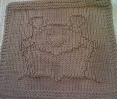 Free Knitting Pattern - Dishcloths & Washcloths : Grin & Bear It Dishcloth