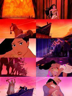This is where the path of hatred has brought us. Disney Pocahontas, Disney Nerd, Disney Couples, Disney Pins, Disney Love, Disney Magic, Walt Disney, Pocahontas Pictures, Princess Pocahontas