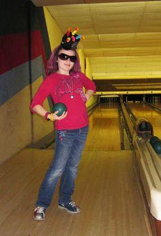 Speak Busty girl bowling balls can