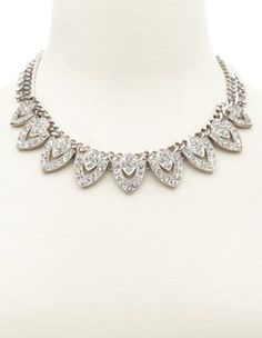 I just found this at only $6, that's right, SIX dollars. Even at Wlmart this would be $15!  diamond deco statement necklace