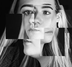 Sections #blackandwhite #portrait #illusion #photography #sections #manipulation #abstract