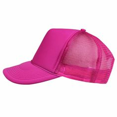 45efb753 Hot Pink Trucker Hat / Womens Girls Adult Snapback Hat / Blank hat for DIY  customization, personalization, monogram, name