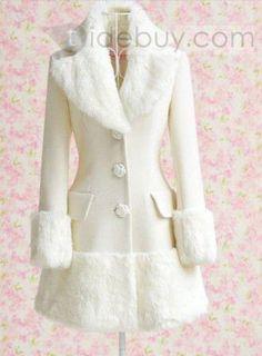Amazing Slim Woolen Long Sleeves Noble Overcoat : Tidebuy.com