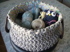 Hoooked Zpagetti : un panier, une corbeille au crochet - Tricot, crochet, doudous de Memie Cathy