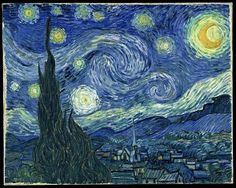 The Starry Night by Vincent van Gogh - Painting