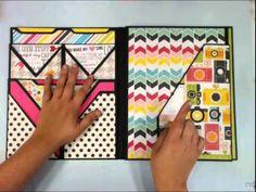 Foto Folios Style 1 Mini Album Tutorial - Scrapbooks  @ www.paperphenomenon.com