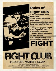 Fight club 8 rules for dating