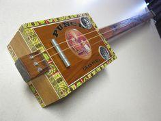CUSTOM Cigar Box Guitar, Handmade Guitar.