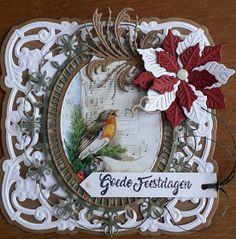 12 Days Of Christmas, Christmas Cards, Marianne Design Cards, Viera, Grapevine Wreath, Grape Vines, Decorative Plates, Joy, Frame