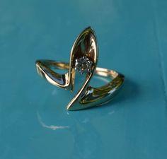 Gaudi Solitaire Diamond Vintage Engagement Ring // by lagnole