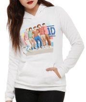 One Direction Stripes Pullover Girls Hoodie
