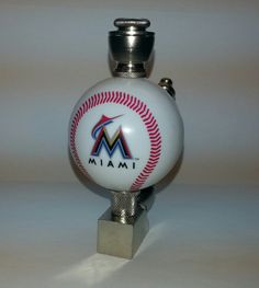 Miami Marlins Baseball Pipe Nickel  Wedge Smoking Pipe with  Team Logo Baseball White Ball by DCHelmetPipes on Etsy